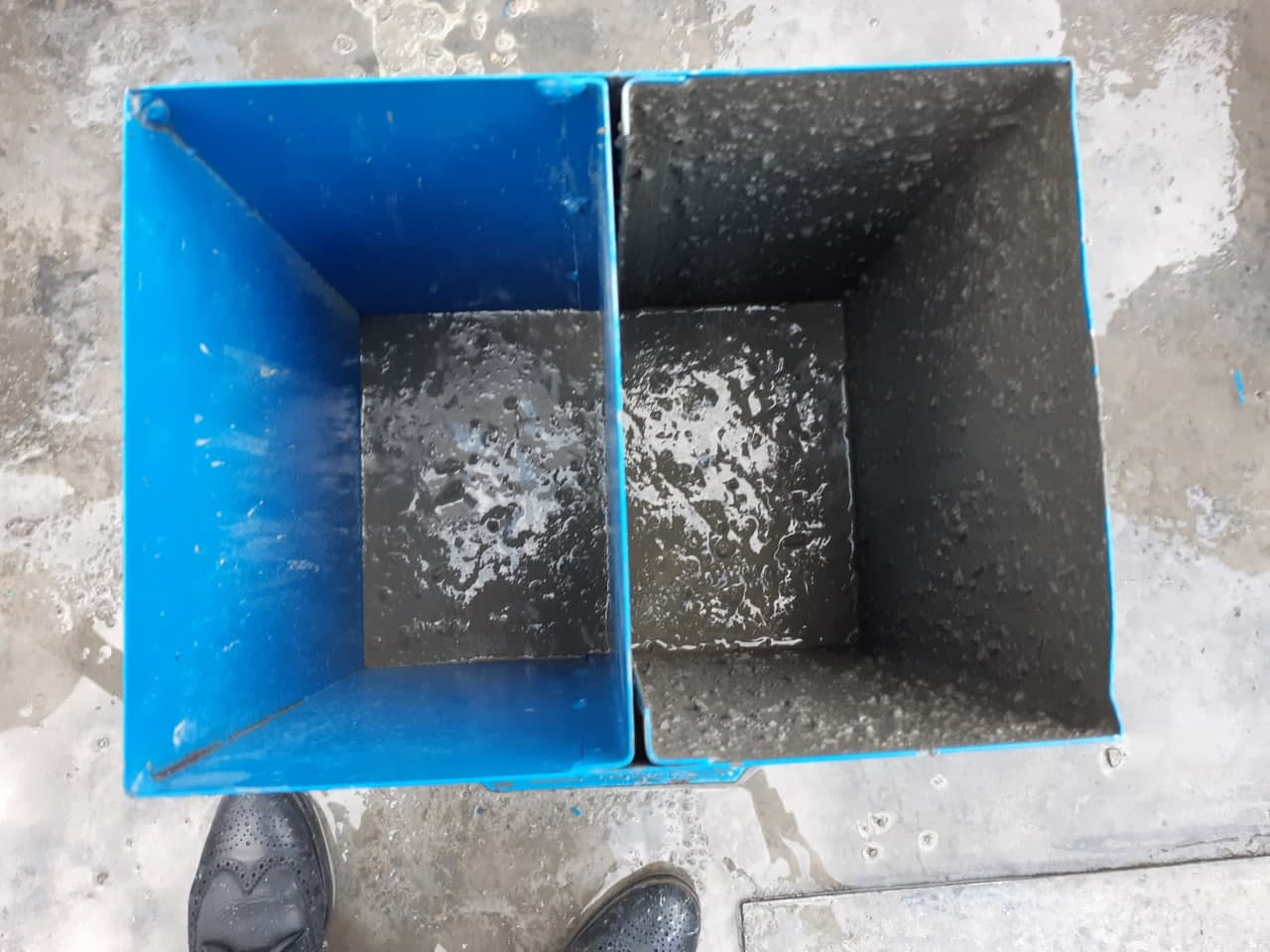آزمایش U-Box بتن خودتراکم (بتن SCC)