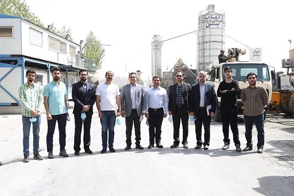 بازدید دانشگاه علم و صنعت از فهاب بتن